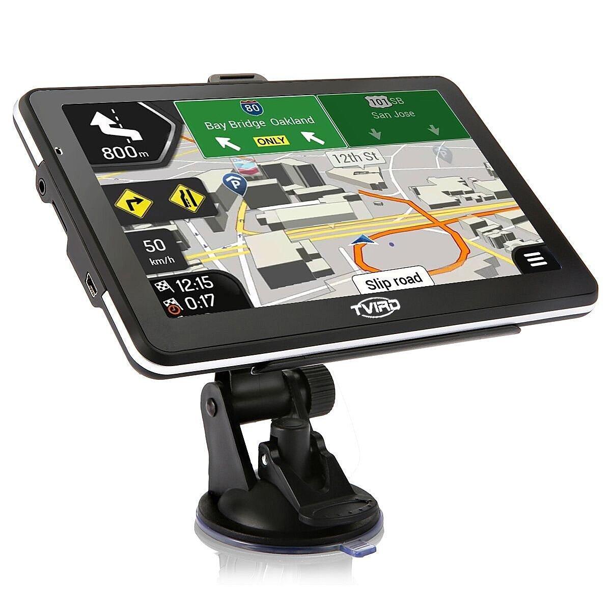 Tvird 車載GPSナビゲーションシステム 7インチ HD 音声プロンプト USBケーブルと車用充電器付き 拡張32GBメモリ 生涯地図アップデート無料 B077D1XK3C