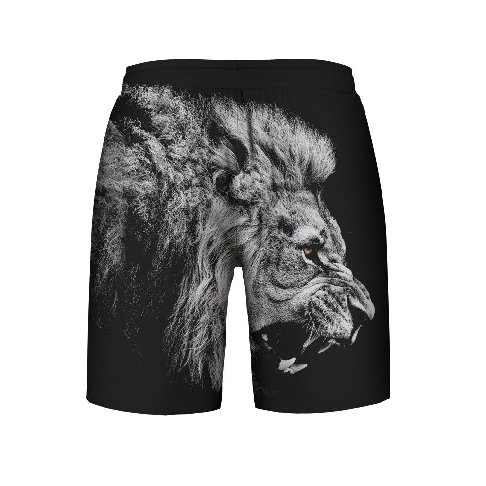 Mens 3D Print Summer Casual Athletic Beach Swimming Vacation Surfing Shorts