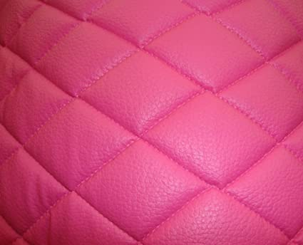Amazon Com Pink Quilted Faux Vinyl Fabric With 3 8 Foam Backing
