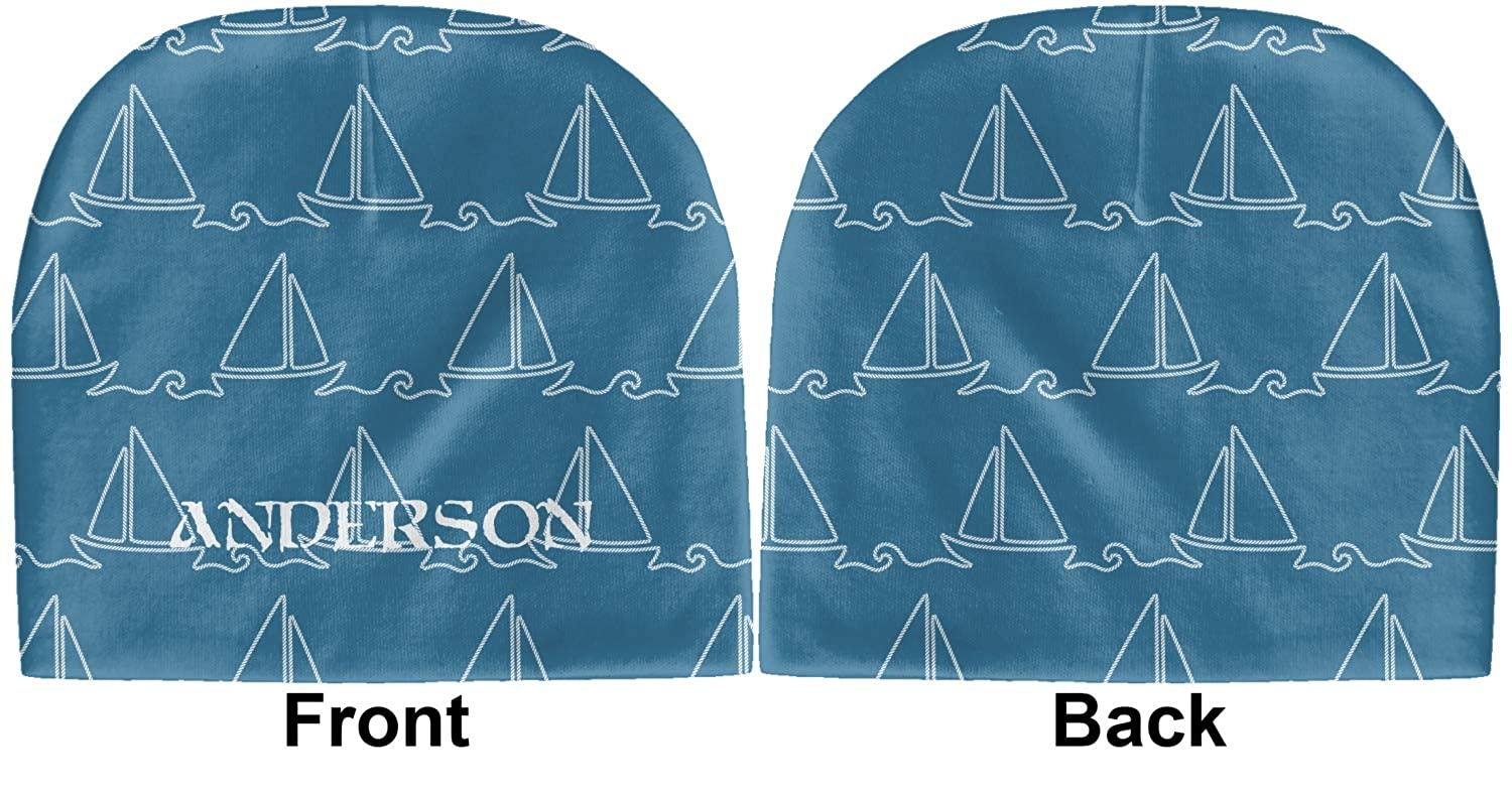 Blue YouCustomizeIt Rope Sail Boats Baby Hat Personalized Beanie