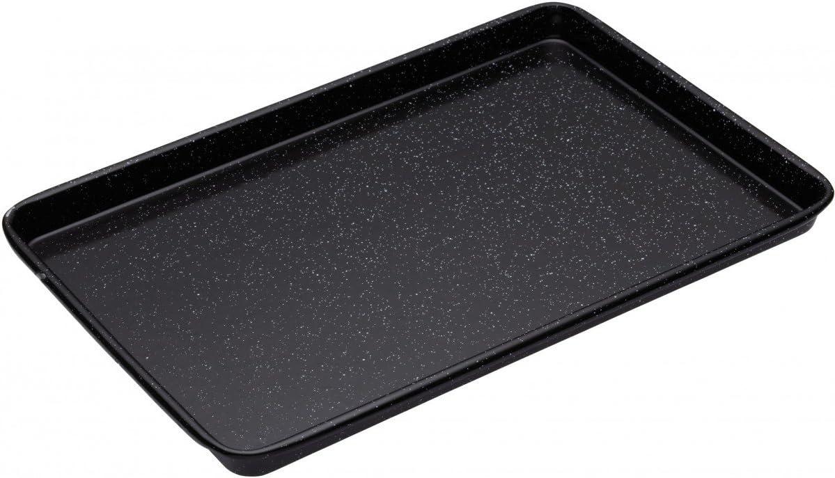 24 x 18 x 1.7 cm Schwarz Master Class Professional Backblech Emaille
