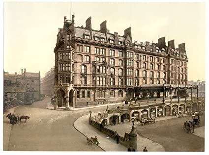 Victorian View of St  Enoch's Station, Glasgow, Scotland, Large A3 size 41  by 28 cm Canvas Textured Fine Art Paper Photo Print