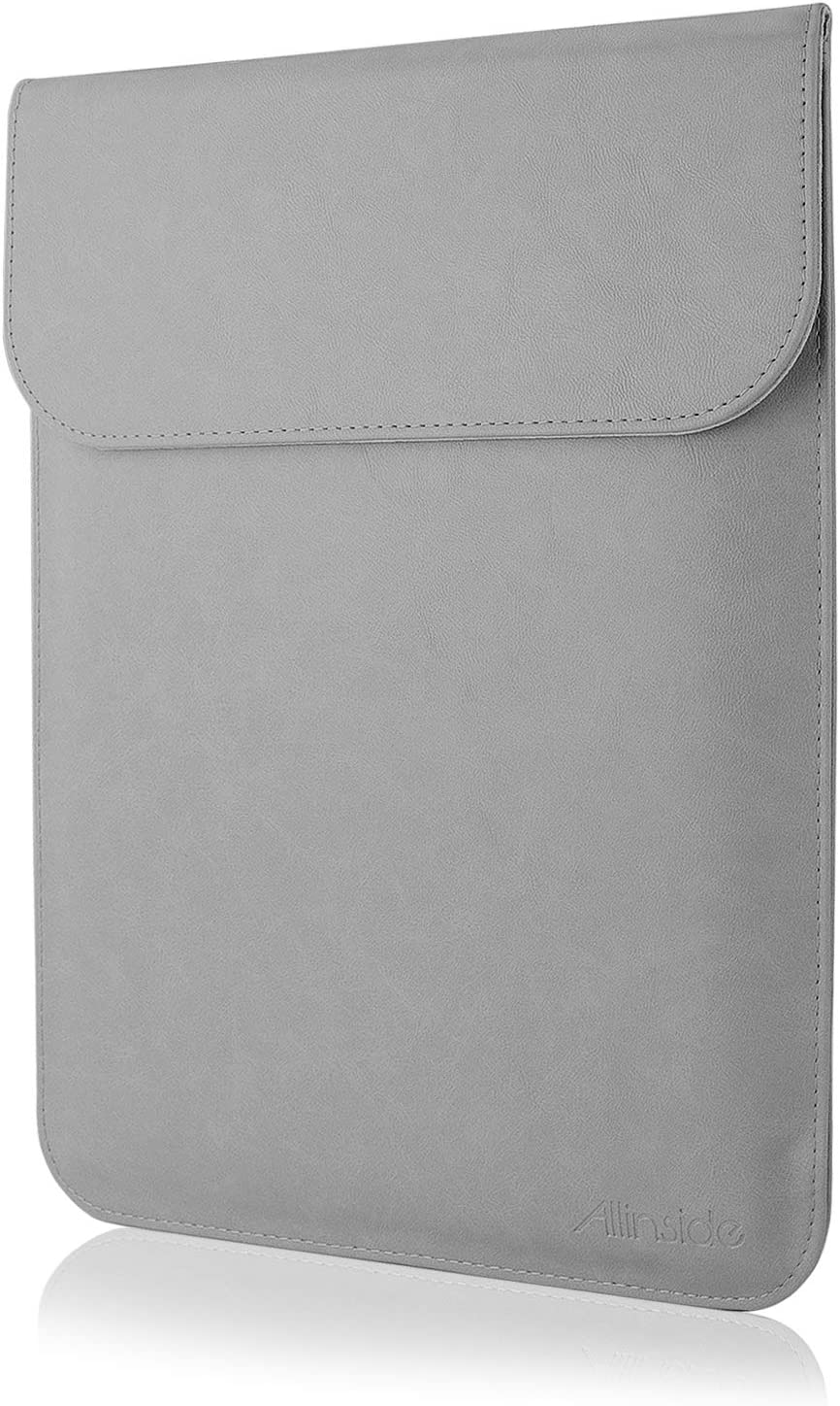 "Allinside 15.6"" Laptop Sleeve for MacBook Pro 15 2012-2015 (A1398)/ Pro 15 Retina 2016-2019 Touch Bar (A1990 A1707)/ MacBook Pro 16 (A2141), Synthetic Leather, Gray"
