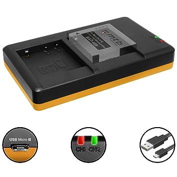2 Akkus + Dual Ladegerät für Panasonic DMW BLH7: