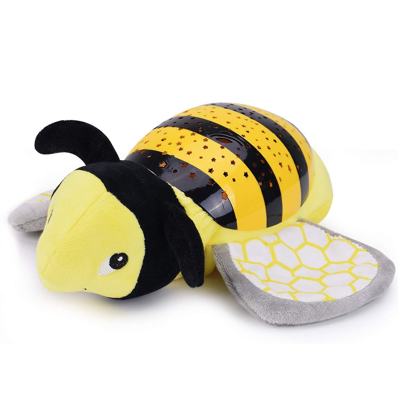 Konig Kids Baby Slumber Buddies Projection Melodies Nightlight Soother Bee