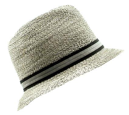 Grevi Men s Loose Visca Fedora Hat in Pale Grey Size Medium at ... 0dceeb2a3c23