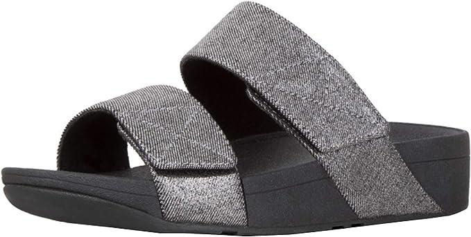 Mina Shimmer Denim Slide Sandal: Shoes