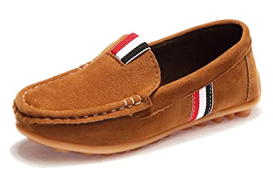Wildleder Jungenmädchen Eagsouni Leder Kinder Comfort Loafers Mokassin Erbsenschuhe JclK1F