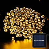 Solar Fairy String Lights - Solar Garden Lights 200 LED 8 Modes Outdoor Waterproof Decorative Lights for Outdoor, Gardens, Homes, Party (Warm White)