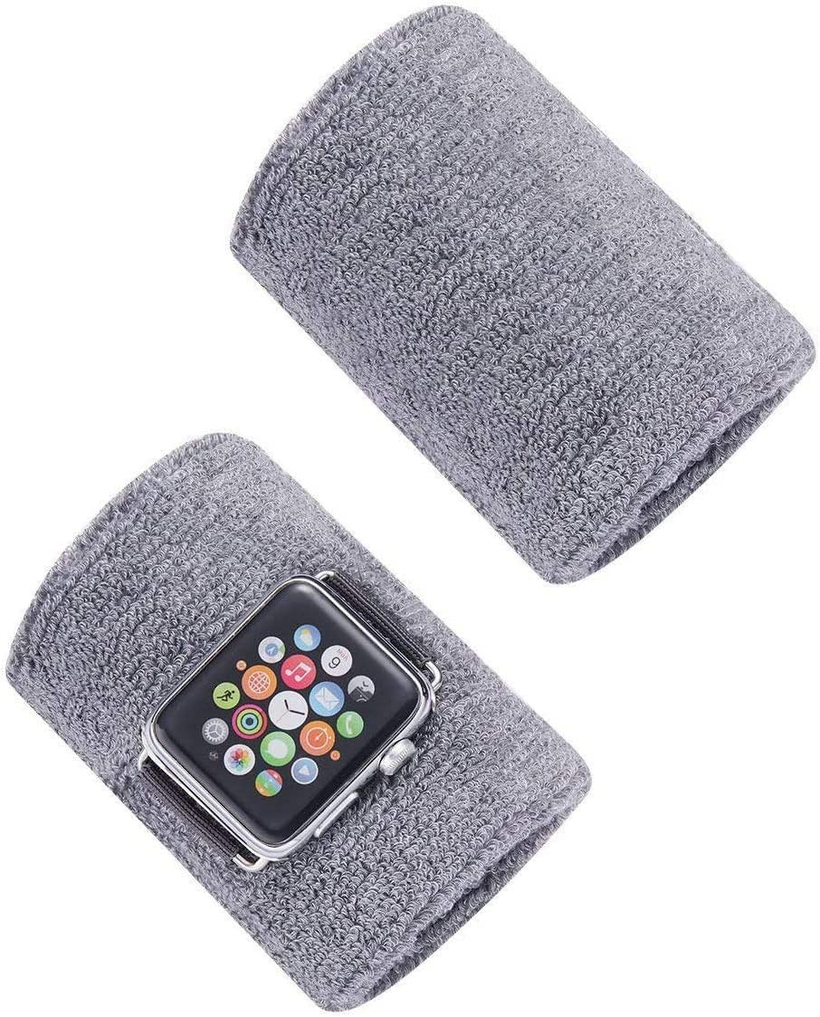 Tinymori Sport Wristbands New Cotton Arm Sweatband for Apple Watch for Men Women for Running Baseball Basketball Yoga Football Exercis Fitness for iWatch Series 6/SE/5/4/3/2/1