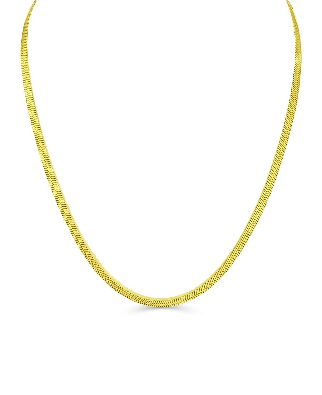 bling culture Life Time Warranty 3mm 4mm 6mm 8mm 10mm 12mm Gold Herringbone Chain