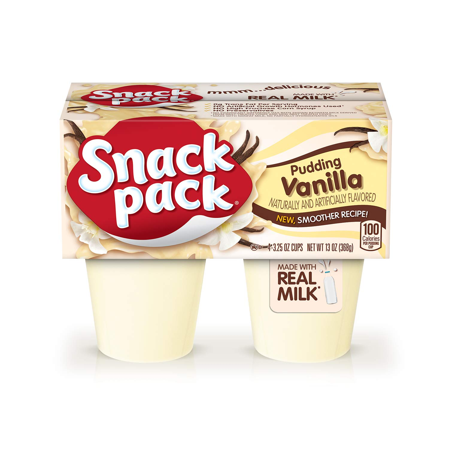 Snack Pack Pie Pudding Cups, Vanilla, 3.25 oz (4 ct)
