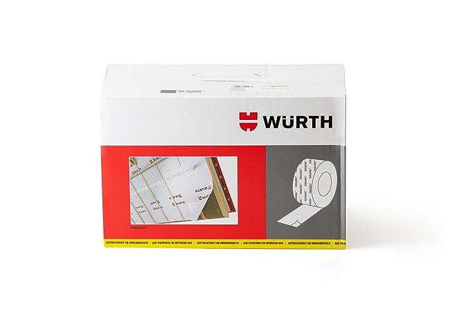 6 rollos Würth Eurasol cinta de Fijación Banda tensora inferior de un lado 60mm x 25m: Amazon.es: Bricolaje y herramientas