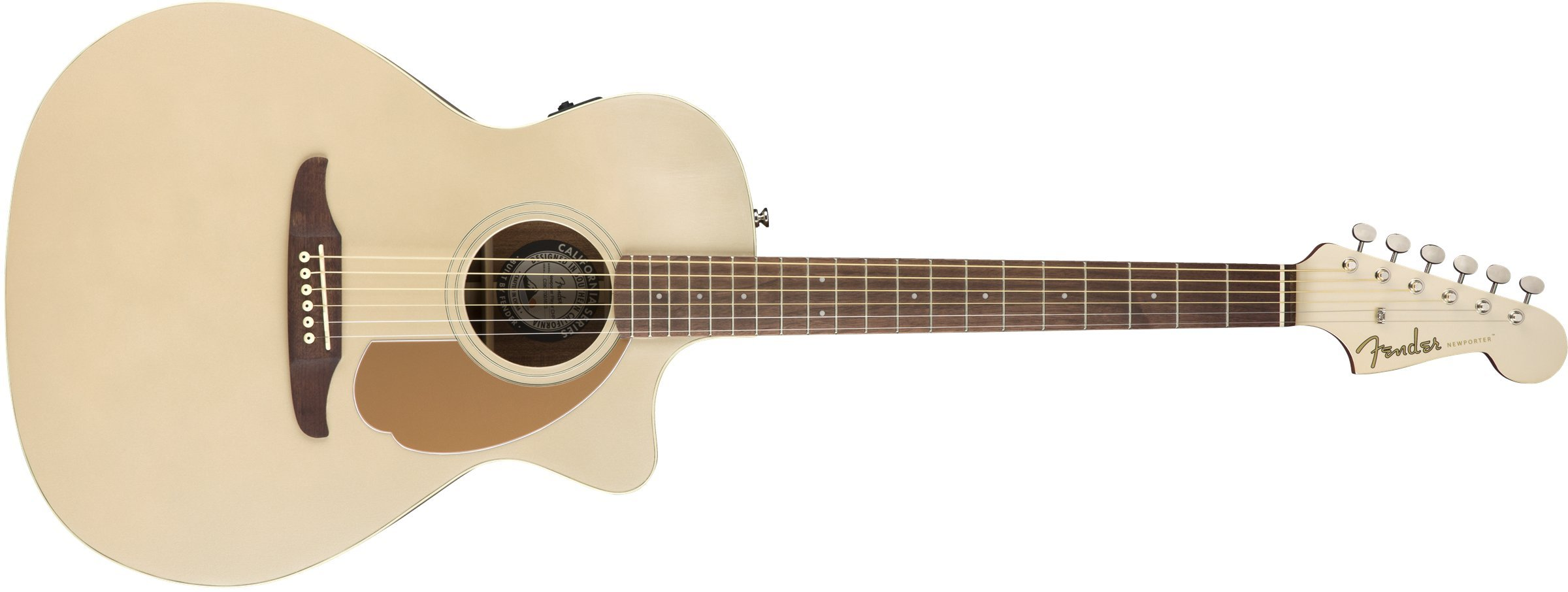 Fender Newporter Player - California Series Acoustic Guitar - Champagne