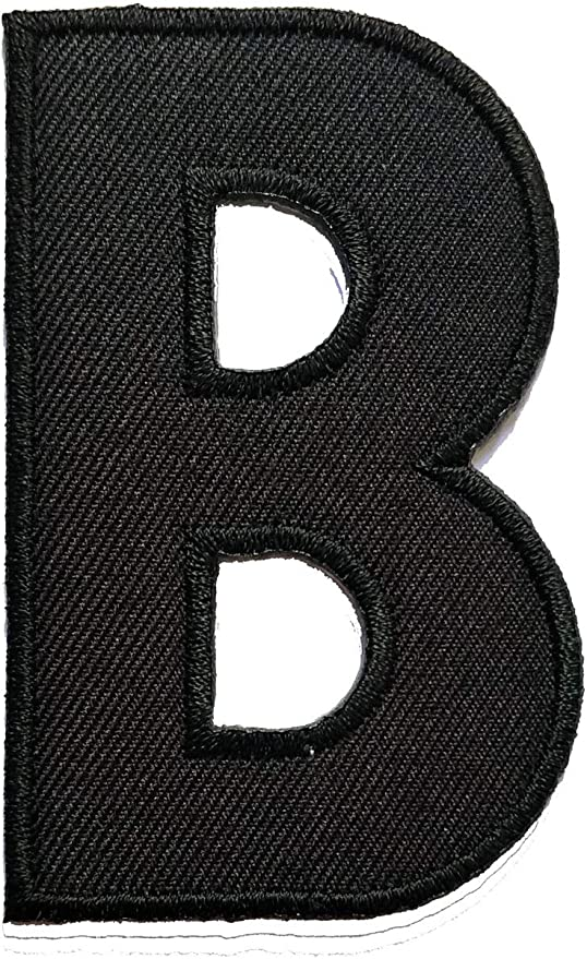 3 Iron on BLOCK ALPHABET Letters 3 Inch Custom Embroidered Denim /& Jean Jacket Patches