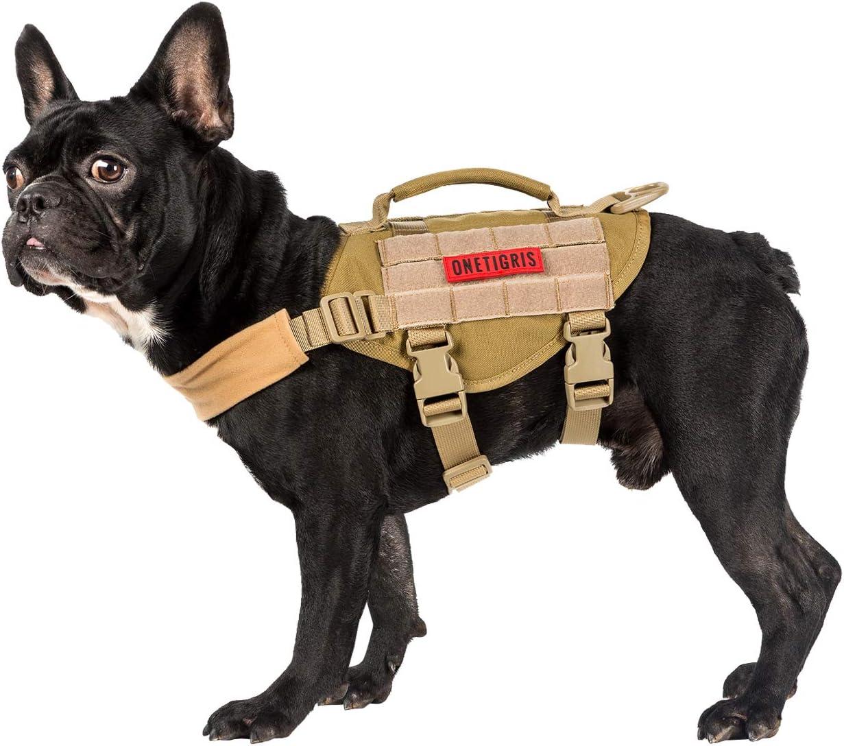 OneTigris Molle Arnés Táctico para Cachorros de Perros pequeños ...