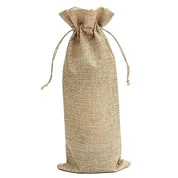 Amazon.com: 5 Pcs 35x15cm Burlap Jute Wine Bottle Bags ...