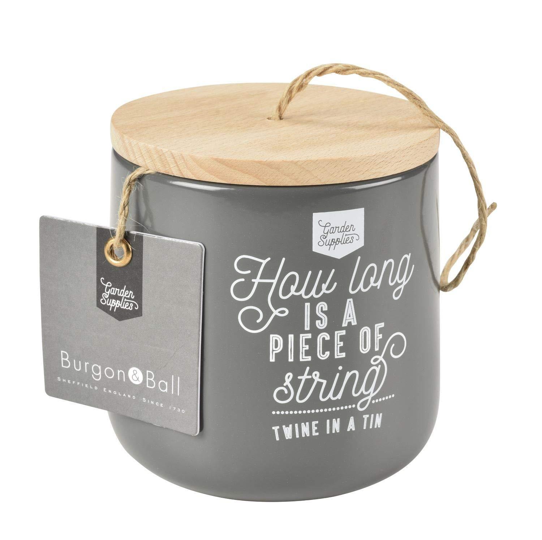 Burgon and Ball NEUF en /émail et distributeur de ficelle de bois avec 120/m de jute M Stone cream