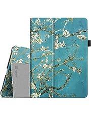 Fintie Folio Slim Fit Kunstleder Schutzhülle Cover Case mit Auto Schlaf / Wach Funktion, Mandelblüten|iPad|1|1 year|iPad 9.7 zoll 2018 2017, iPad Air|USB Stick|USB Stick