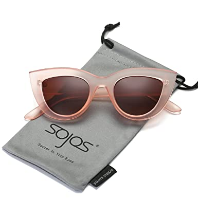 SojoS Lunettes de Soleil de Œil de chat Fashion Chic Classique pour Femme SJ2939 avec Rose Cadre/Marron Lentille WjdaPG
