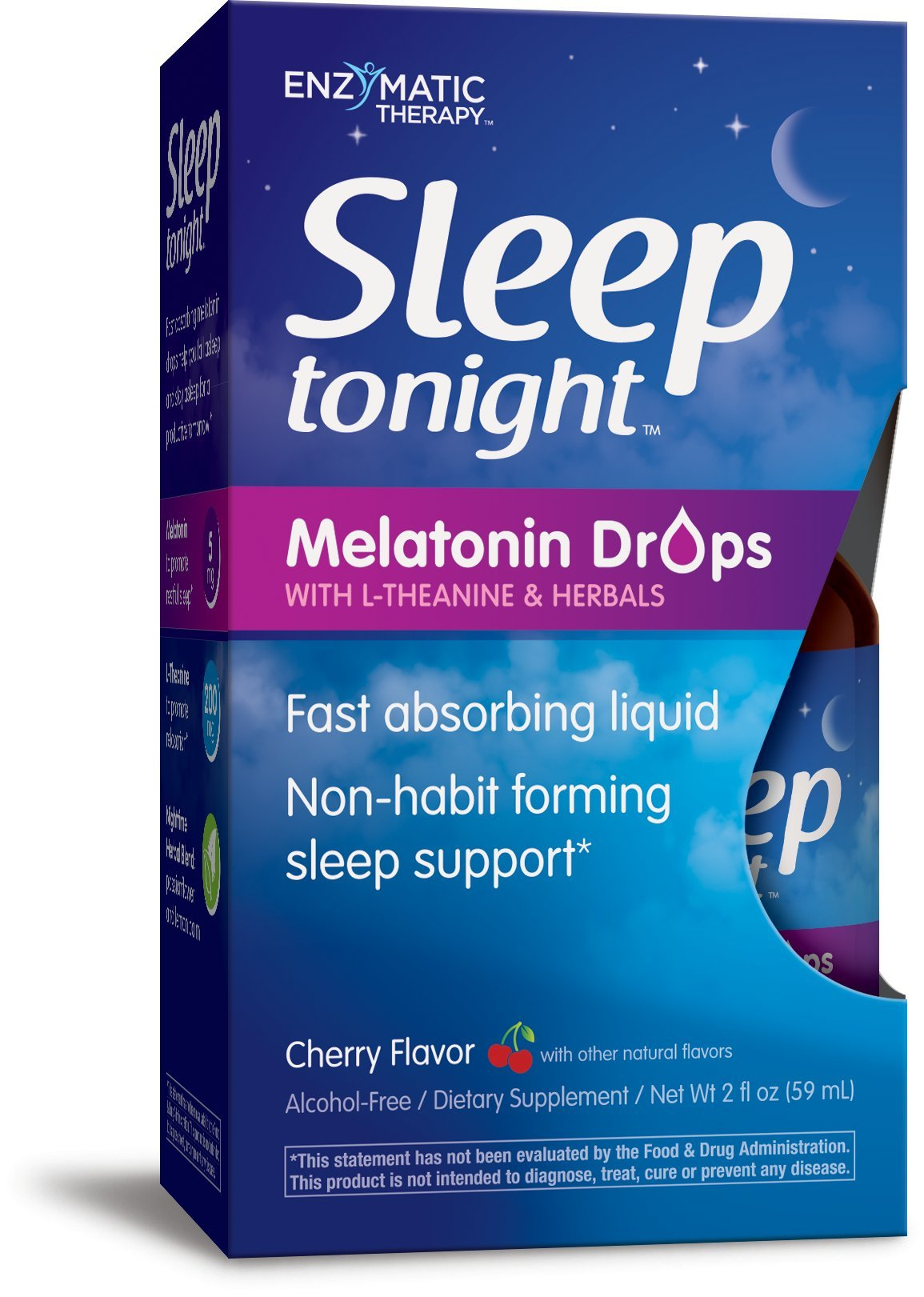 Natures Way Sleep Tonight Melatonin Drops, Cherry, 2 Ounce