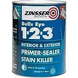 Zinsser ZINBE1231L 1 Litre 123 Bulls Eye Primer/Sealer Paint