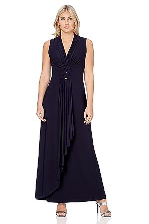 MarineblauBekleidung Kleid Originals Damen Roman Maxi drxeWQoECB