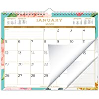 Juniper Paper Design 2020 Monthly Wall Desk Calendar for January 2020 to December 2020, Twin-Wire Binding, Small 11 x 8.75 Inch, Abstract Floral