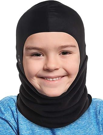 Thermal Fleece Balaclava Ski Cycling Neck Face Mask Cover Hood Hat Cap Kids TR16