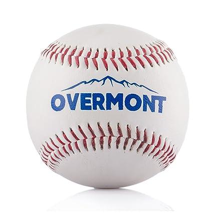Overmont Pelota de Beisbol sofbal Softball de Cuero Sintetico ...