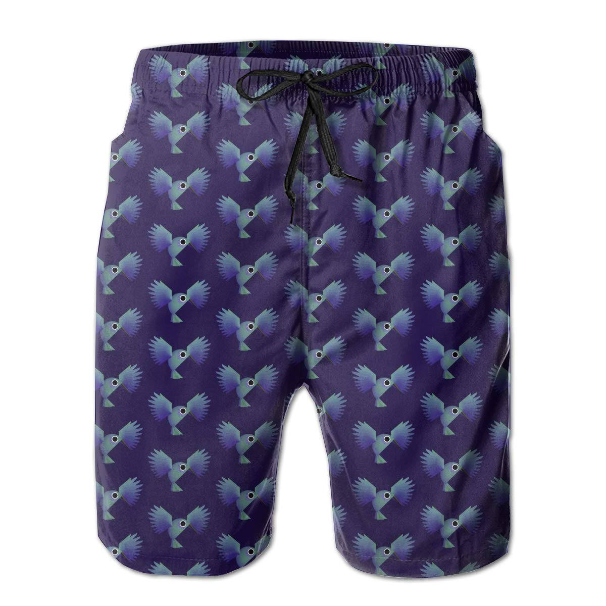 HZamora/_H Mens Hummingbird Summer Breathable Quick-Drying Swim Trunks Beach Shorts Cargo Shorts
