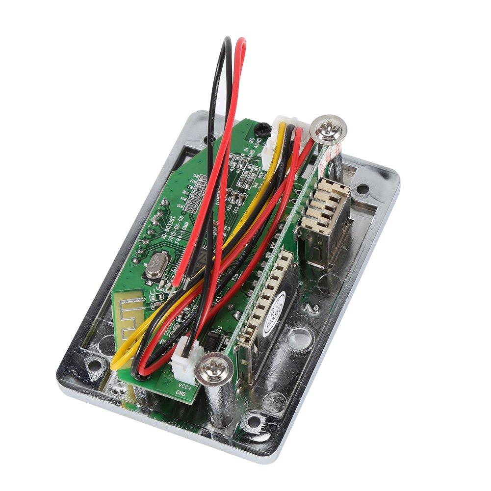 DC12V Bluetooth Audio Decoder Board Audio Module USB SD TF FM Radio Lossless WMA//WAV//MP3 Decoder Silver