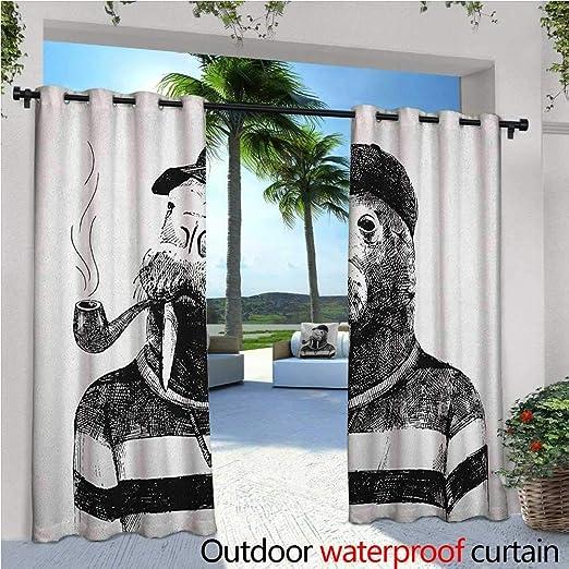 Cortina de privacidad para exteriores contemporánea, estilo moderno, efecto de patchwork visual con colorido retro, impresión de composición para porche delantero cubierto patio Gazebo Dock Beach Home multicolor: Amazon.es: Jardín