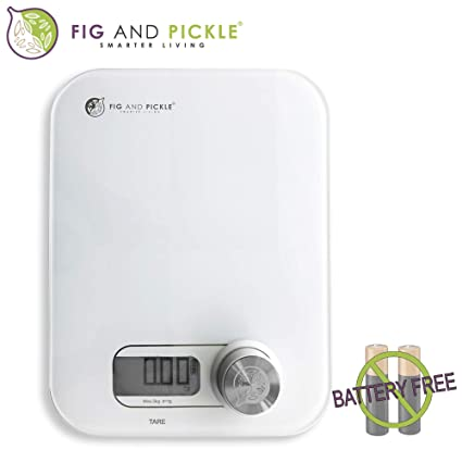 14bf77e3c640 Digital Kitchen Scale - NO Battery Needed - Multifunction Food Weighing  Scale, Portable, Ultra Slim Design, Metric and Imperial, Great for Meal  prep, ...