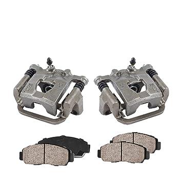 REAR Premium Loaded OE Caliper Assembly Set Quiet Low Dust Ceramic Brake Pads 2 COEK00270