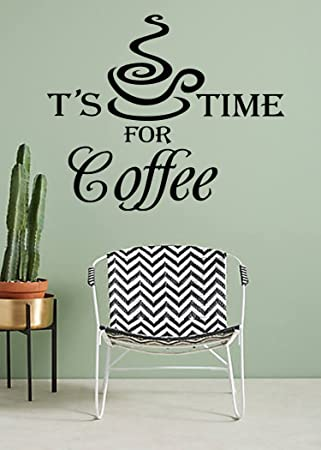 Vinyl Stickers Kitchen Wall Decals Quotes Its Coffee Time Decals Decorative Kitchen  Design Decals Home Decor Part 36