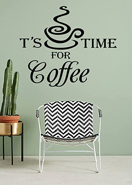 Amazon Com Vinyl Stickers Kitchen Wall Decals Quotes Its Coffee