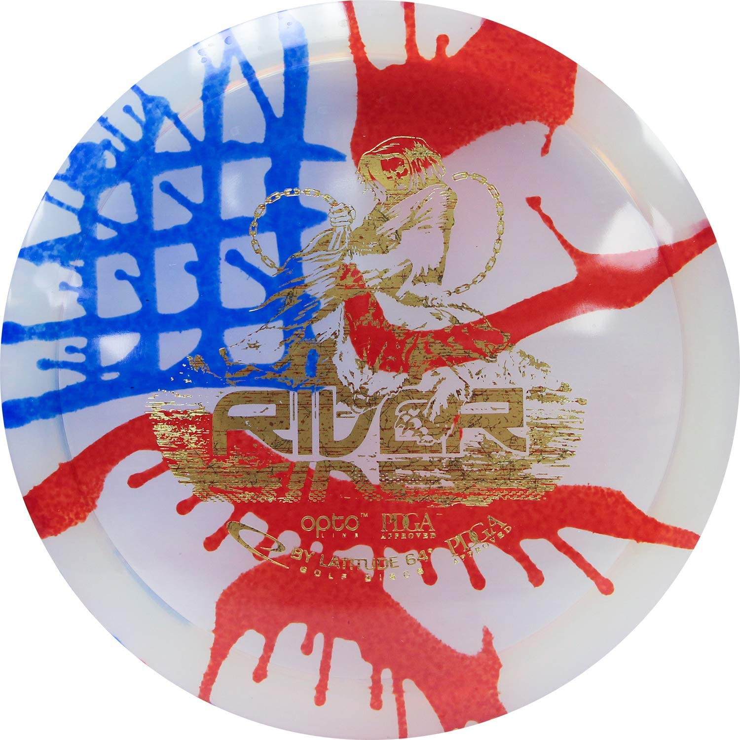 Latitude 64 MyDye American Flag Disc Golf Discs | Maximum Distance Drivers | Stable Midrange | Frisbee Golf Discs | Stamp Color Will Vary