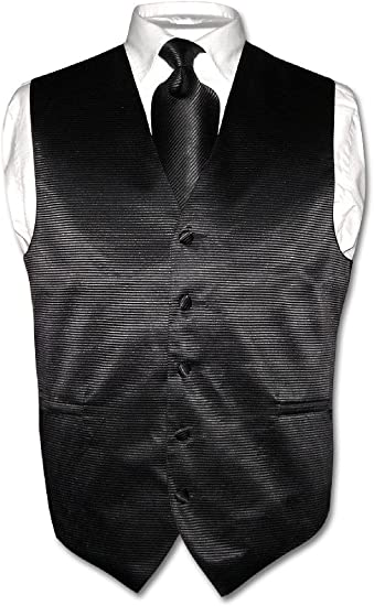 "New Men/'s Tuxedo Vest Vertical Stripes 2.5/"" Skinny Necktie set party Burgundy"