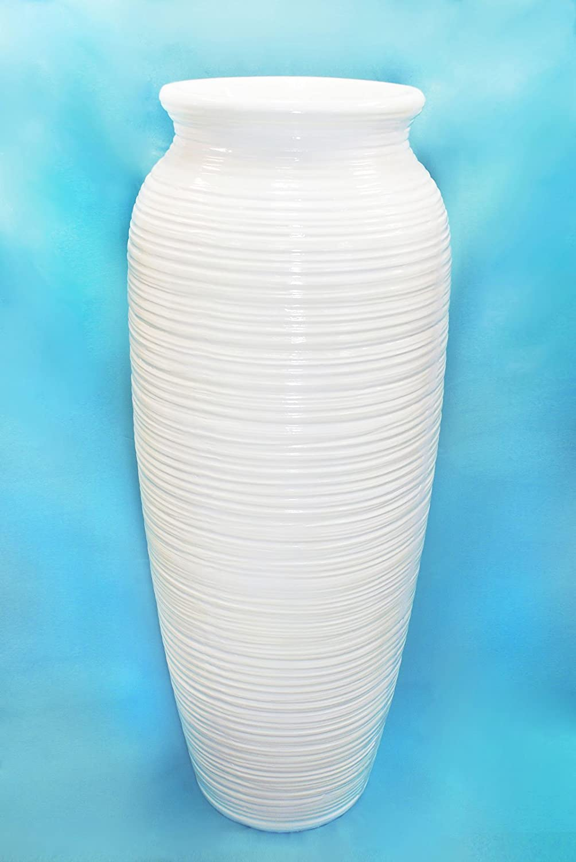 花瓶ファイバーグラスガーデンホーム装飾モダンホワイトデコレーションTallインドアアウトドア   B00ZZ2LLD8