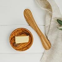 Naturally Med butter messer aus olivenholz 18cm