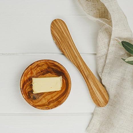 Madera de olivo cuchillos de mantequilla