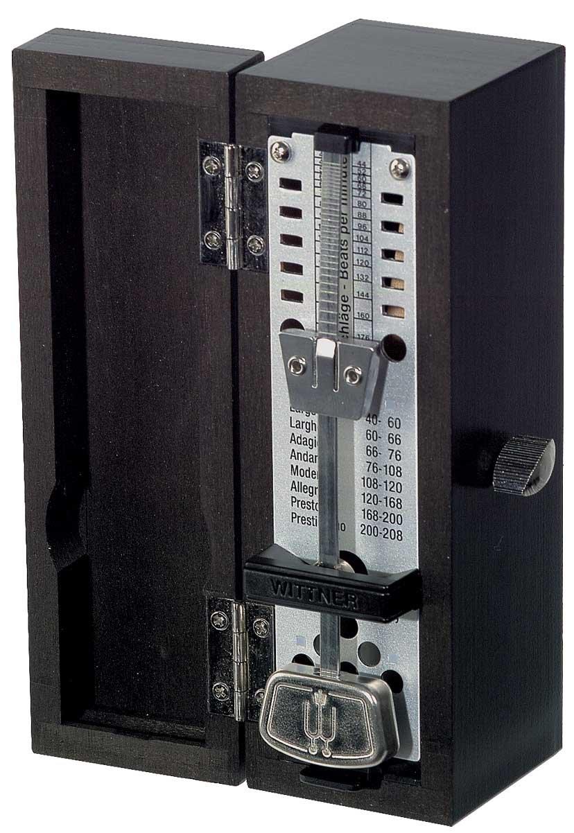 Wittner Taktell Wooden Super-Mini Metronome in Black Matte Wood
