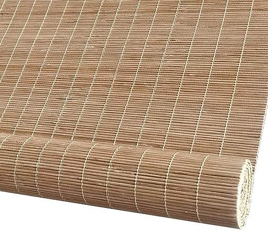 Persiana enrollable Sombrilla Cortina de aislamiento Bloqueador solar Bambú 80% Sombreado Persianas enrollables de bambú Persianas romanas Opciones de múltiples tamaños (Size : 105×120cm) : Amazon.es: Hogar