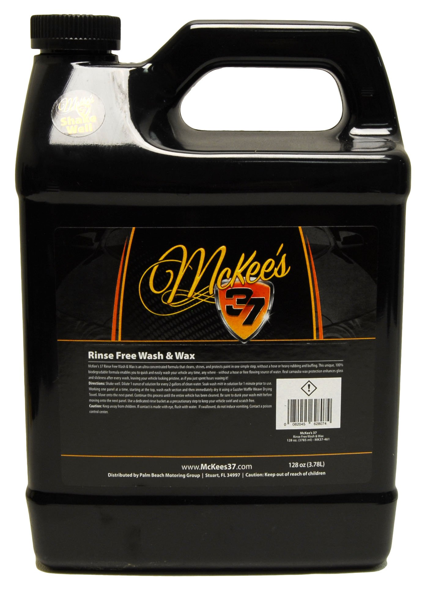 McKee's 37 MK37-461 Rinse Free Wash and Wax 128 Fluid_Ounces