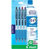 Pilot B2P - Bottle to Pen - Retractable Ball Point Pens Made from Recycled Bottles, 4 Pen Pack, Medium Point, Black/Blue/Red/Purple (32811)