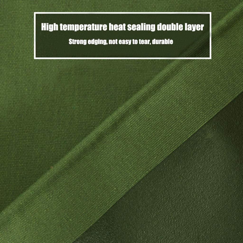 Qjifangfsh Plane, Silikon-Tuch + PVC, doppelseitiger Wasserdichter, Sonnenschutzschirm, regendichter Sonnenschutzschirm, Wasserdichter, Armee-Grün (größe   4m4m) 7aa481