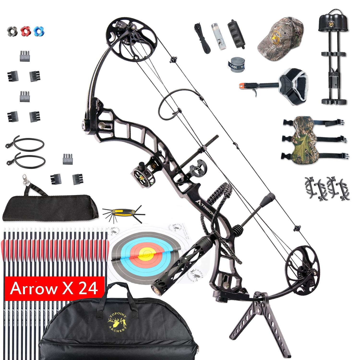 Amazon Com Compound Bow For Adults Archery Bow Set Hunting