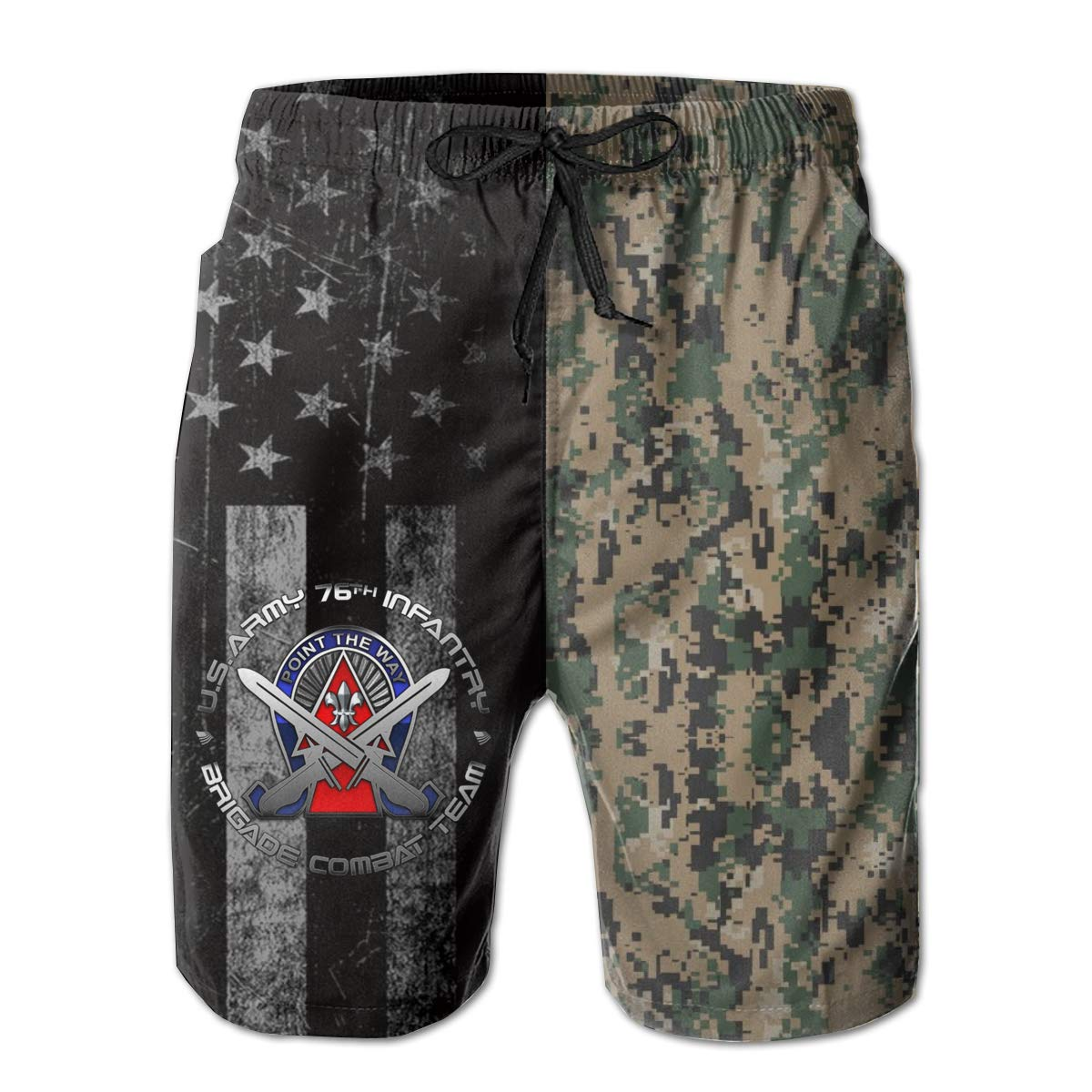 76th Infantry Brigade DUI Mens Swim Trunks Beach Short Board Shorts
