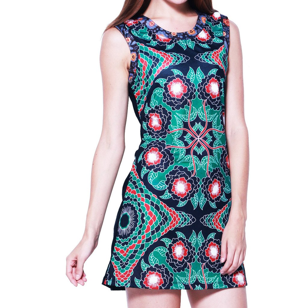 aus Baumwolle kleine Auflage in S ! PANASIAM Kleid M L und XL farbenfrohe Tunika Boutiqueware